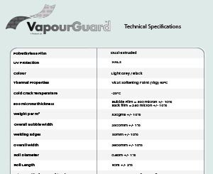 VapourGuard™ <br>Specification Sheet