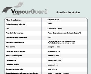 Folha de Especificações VapourGuard™