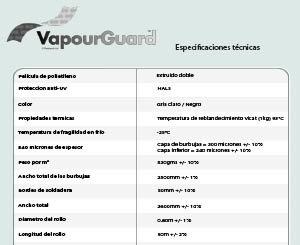 Hoja de Especificación VapourGuard™